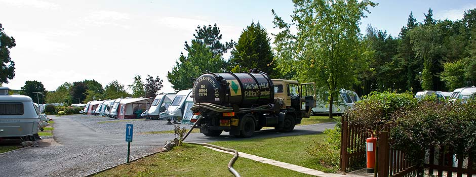 Removing Sewage from a Septic Tank in a Caravan Site in Somerset by Always Cleansing Ltd